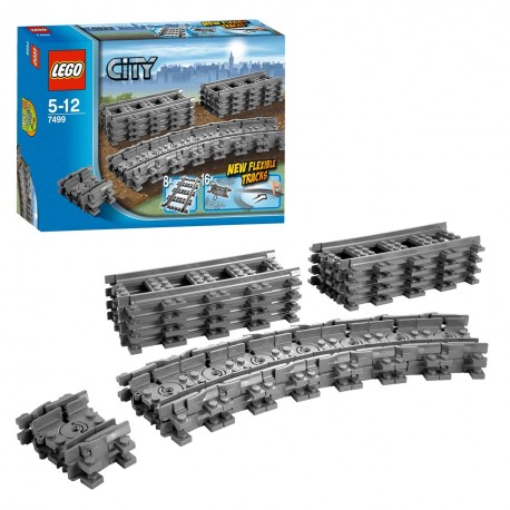 7499 Lego City rails Flexibele en Rechte rails