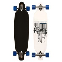 "Black Dragon longboard 36"" Zebra Wit - Drop-trough"