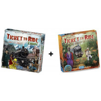 Spel - Ticket to Ride Europe met uitbreiding Map Collection - Afrika / Africa - Combi Deal