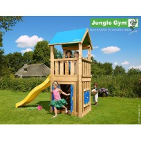 Jungle Gym Speeltoren met Speelhuis en Glijbaan Castle Playhouse 125