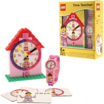 Lego Time Teacher Girl Horloge en Klok