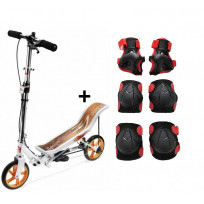 Space Scooter X580 - Step - Wit + ThysToys beschermset