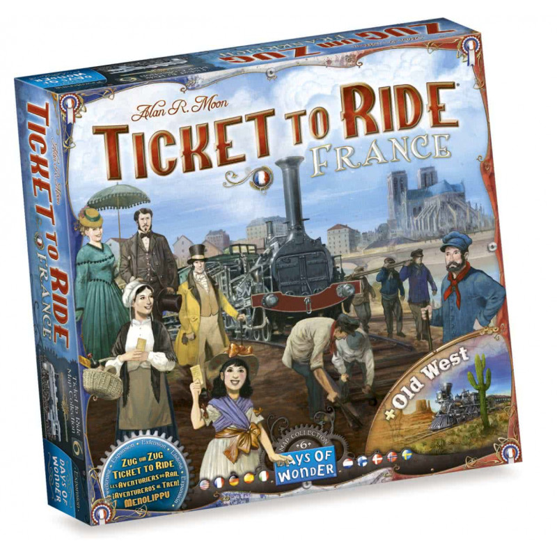 Spel - Days Of Wonder - Ticket to Ride - Map Collection - France/Old West