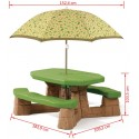 Step2 Picknicktafel 6 pers. + parasol.