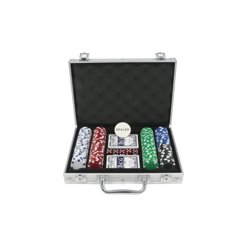 Poker chips koffer 200