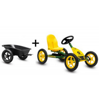 BERG Skelter Junior Buddy John Deere + aanhanger + trekhaak