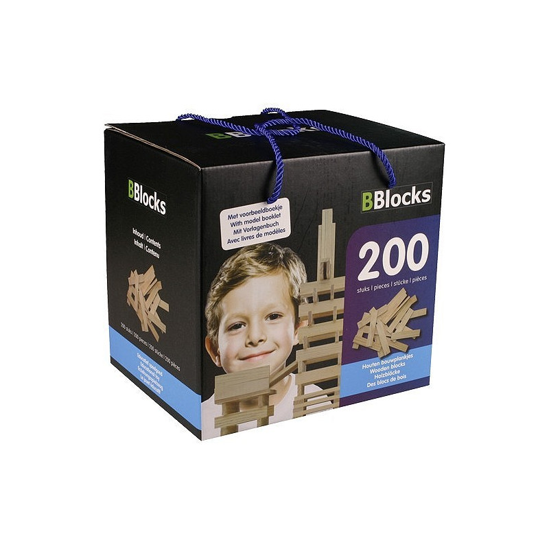 Bblocks 200 pcs. blank in kartonnen doos